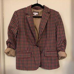 [MERONA] Plaid Print Suit Jacket Blazer Size 16